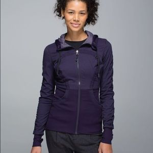 LULULEMON reversible dance studio jacket purple